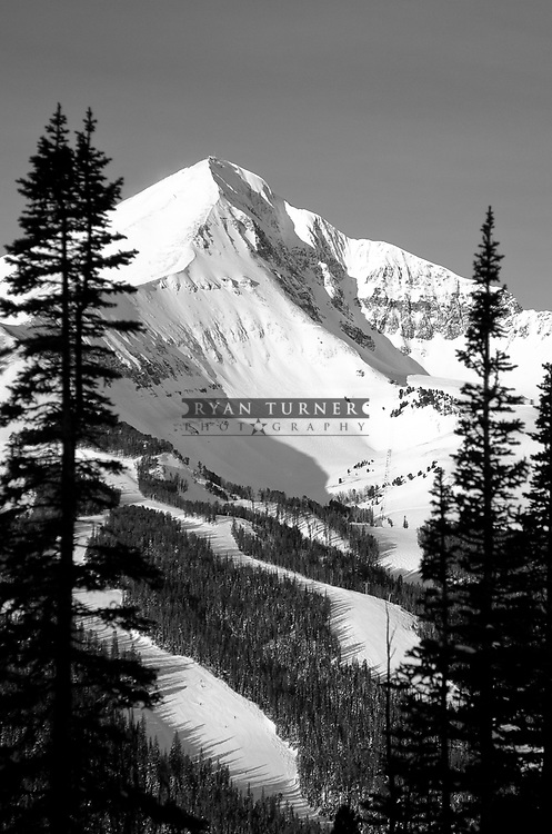 Classic image of Lone Peak in Black and White.  Limited Edition - 150