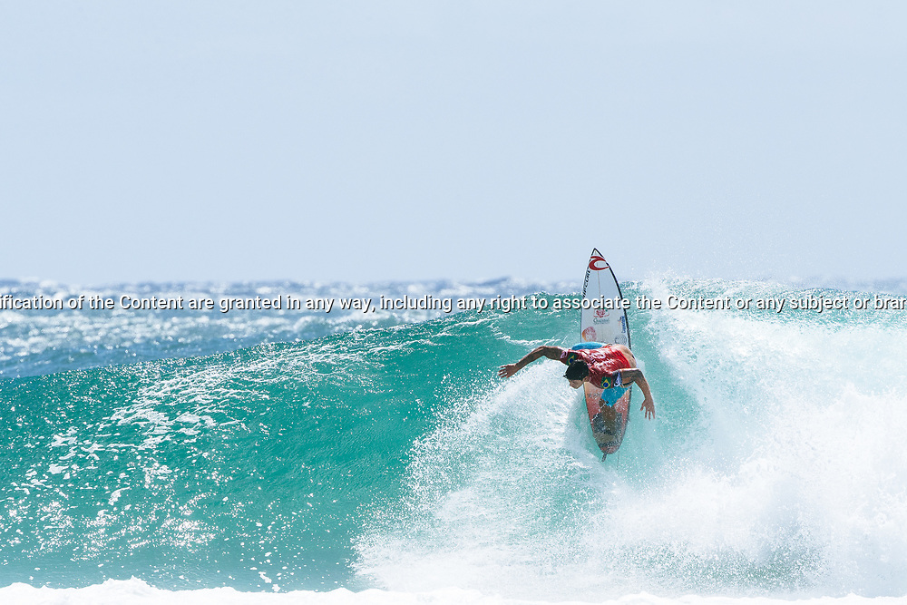 Gabriel Medina of Brazil placed second in Heat 6 of Round 3 at the Quiksilver Pro, Gold Coast, 2018. . FOR EDITORIAL NEWS USE ONLY