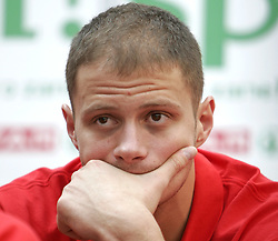 Raso Nesterovic at press conference of Slovenian basketball National Team before departure to European Championships Belgrade 2005, on September 13, 2005, City park, BTC, Ljubljana, Slovenia.  (Photo by Vid Ponikvar / Sportida)