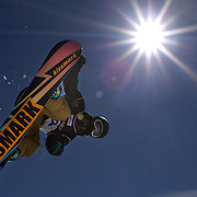 Masakaze Yoshida, Japan, in action during the Men's Half Pipe Finals in the LG Snowboard FIS World Cup, during the Winter Games at Cardrona, Wanaka, New Zealand, 28th August 2011. Photo Tim Clayton....
