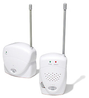 baby monitor photographed on a white background