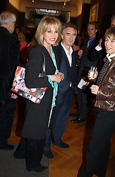 Actor DENNIS LAWSON and JOANNA LUMLEY at a party to celebrate the publication of an autobiography by the late Jack Rosenthal at The Fine Art Society, 148 New Bond Street, London W1 on 21st April 2005.<br />