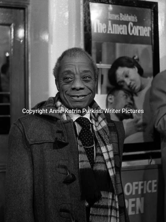 James Baldwin<br /> Copyright Anne-Katrin Purkiss/Writer Pictures<br /> Contact +44(0)20 8241 0039 <br /> sales@writerpictures.com <br /> www.writerpictures.com