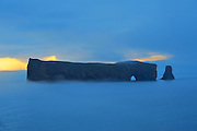 Rocher percé  (Percé Rock) in Atlantic Ocean<br /> Percé <br /> Quebec<br /> Canada