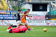 Dundee United midfielder Billy King (#11) scores Dundee United's first goal (1-1) during the Betfred Scottish Cup match between Dundee and Dundee United at Dens Park, Dundee, Scotland on 9 August 2017. Photo by Craig Doyle.