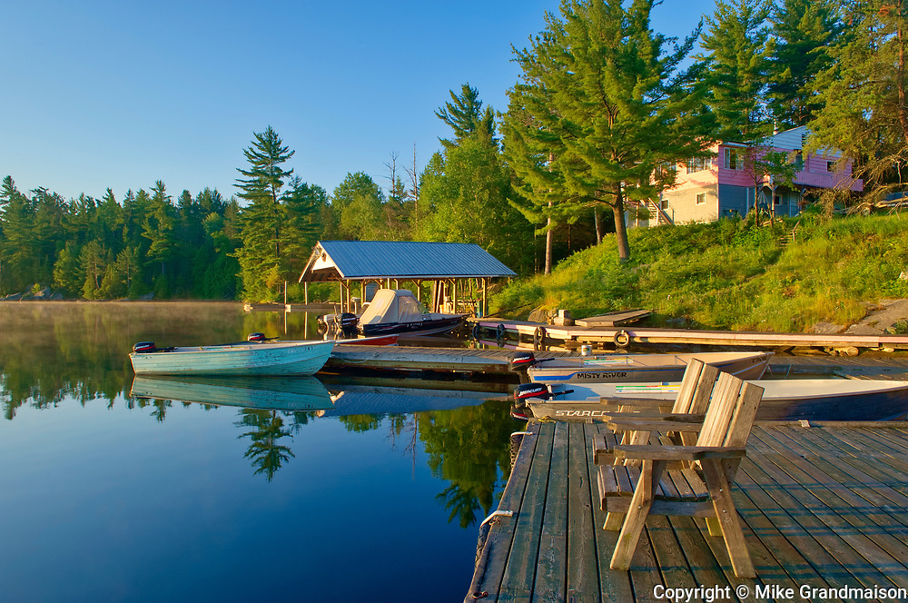 Lodge at Snake Island Lake in the White Bear Forest Conservation Reserve<br />Temagami<br />Ontario<br />Canada