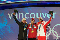 The Medal Ceremony at Whistler on Day 9 of the Vancouver 2010 Winter Olympics.