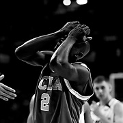 UCLA's Darren Collison reacts in the second half as the Bruins fell to the Florida Gators 76-66 at Georgia Dome in the Final Four.
