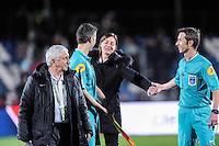 Corinne DIACRE / Olivier HUSSET - 03.04.2015 - Clermont / Angers - 30e journee Ligue 2<br /> Photo : Jean Paul Thomas / Icon Sport