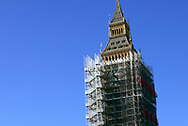 Big Ben under construction as seen from the West minister Bridge. Photo by Dennis Brack
