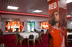 CARDIFF, WALES - Tuesday, September 4, 2018: Wales branding at the Vale Resort ahead of the UEFA Nations League Group Stage League B Group 4 match between Wales and Republic of Ireland. (Pic by David Rawcliffe/Propaganda)