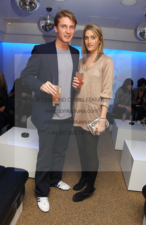 VIOLET VON WESTENHOLTZ and CHARLIE GREEN at a party to celebrate the publication of Tatler's Little Black Book 2006 held at 24, 24 Kingley Street, London W1 on 9th November 2006.<br />