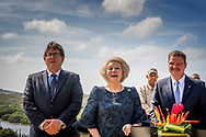 ORANJESTAD - Princess Beatrix at the opening ceremony and a.e. mr. M. G. Eman, Prime Minister of Aruba, the Spanish Lagoon as new nature National Park Arikok. COPYRIGHT ROBI UTRECHT<br /> <br /> ORANJESTAD - Prinses Beatrix tijdens de openingshandeling  en Z.E. mr. M.G. Eman, Minister-president van Aruba, van het Spaans Lagoen als nieuw natuurgebied bij Nationaal Park Arikok. ANP ROYAL IMAGES ROBIN UTRECHT  NETHERLANDS ONLY