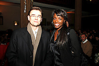 Lorraine Pascale and Michael Morley CE  Coutts & Co, Nordoff Robbins Carol Service  2011 sponsored by Coutts. London..Wednesday, 14. Dec 2011