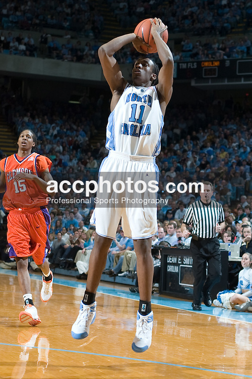 2005 February 19: North Carolina Tar Heel guard Quentin Thomas (11) during a 88-56 UNC victory over Clemson University, on the campus of the University of North Carolina in Chapel Hill, NC.
