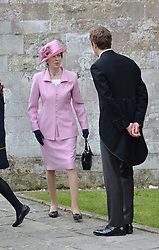 The Princess Royal at the wedding of the Hon.Alexandra Knatchbull to Thomas Hooper held at Romsey Abbey, Romsey, Hampshire on 25th June 2016