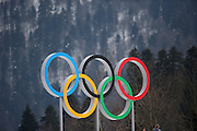 """General view, <br /> FEBRUARY 11, 2014 - Cross Country Skiing : <br /> Women's Sprint Free Qualification <br /> at """"LAURA"""" Cross-Country Ski & Biathlon Center <br /> during the Sochi 2014 Olympic Winter Games in Sochi, Russia. <br /> (Photo by Koji Aoki/AFLO SPORT) [0008]"""