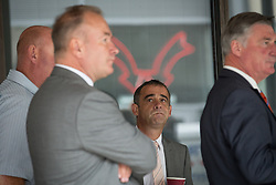 © Licensed to London News Pictures . 10/09/2013 . Manchester , UK . MICHAEL LE VELL (aka Michael Turner ) during a cigarette break as the jury deliberates at Manchester Crown Court this morning (Tuesday 10th September 2013) . The actor , who plays mechanic Kevin Webster in Coronation Street , is charged with a series of offences including rape , sexual activity with a child and indecent assault . Photo credit : Joel Goodman/LNP