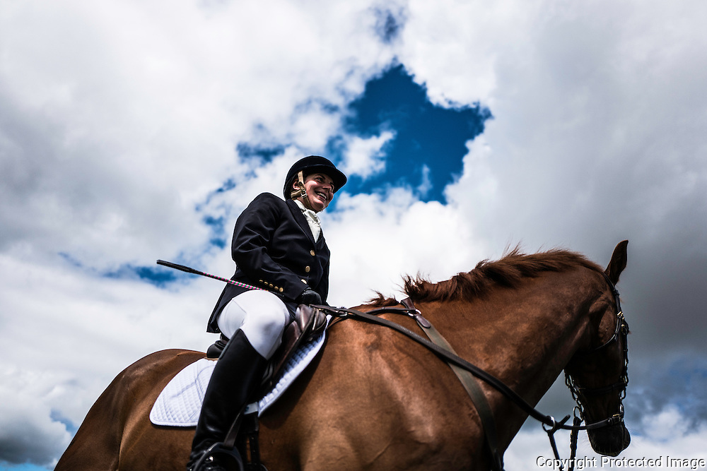 Burgham, Morpeth, Northumberland, UK. 30th July 2016. Eventers competing at the Burgham International Horse Trials in Northumberland. © Chris Strickland / Alamy Live News
