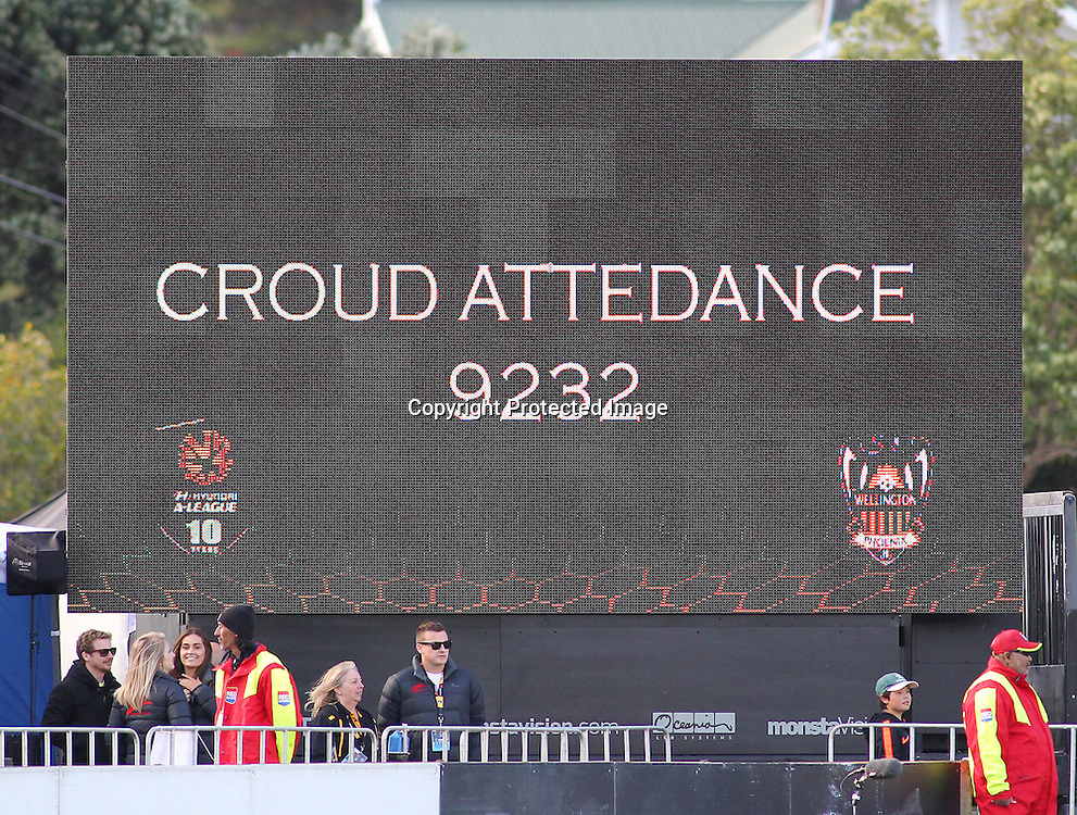 I think they mean Crowd Attendance, during the A-League football match between the Wellington Phoenix & Melbourne City, at the Hutt Recreational Ground, Wellington, 14 February 2015. Photo.: Grant Down / www.photosport.co.nz