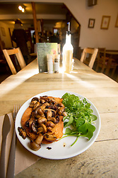 The mushrooms on toast starter. Pillars of Hercules, Falkland, Fife, Tam Cowan review