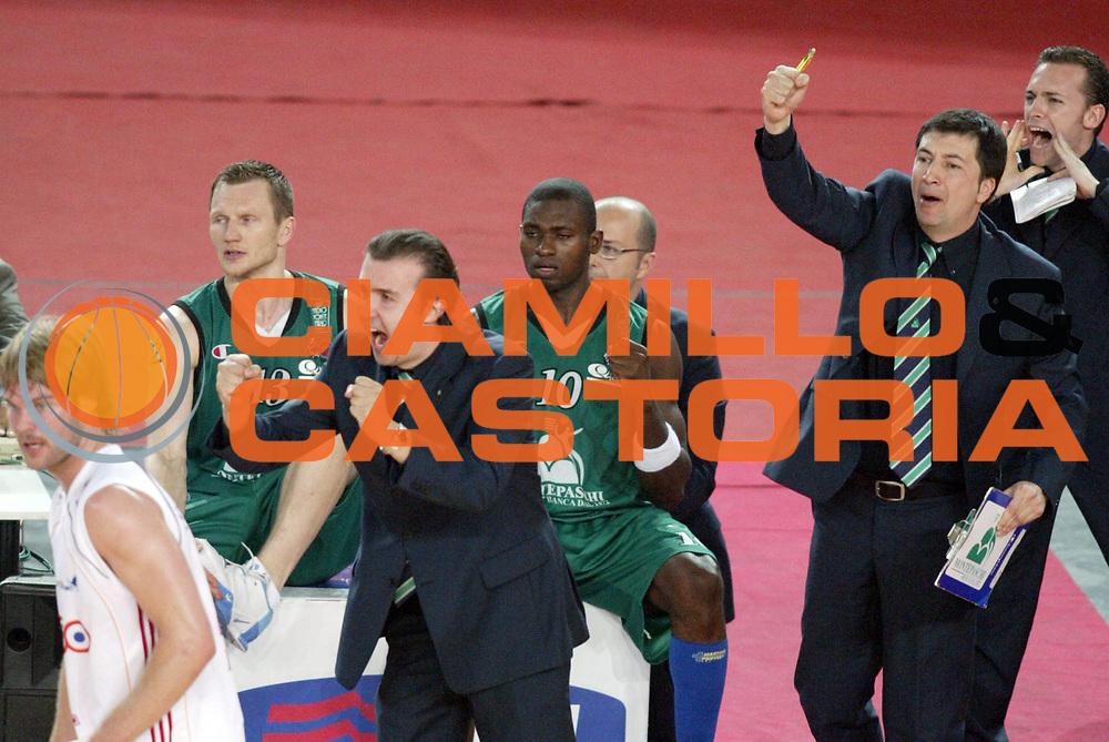 DESCRIZIONE : Roma Lega A1 2006-07 Playoff Semifinale Gara 4 Lottomatica Virtus Roma Montepaschi Siena<br /> GIOCATORE : Simone Pianigiani<br /> SQUADRA : Montepaschi Siena<br /> EVENTO : Campionato Lega A1 2006-2007 Playoff Semifinale Gara 4<br /> GARA : Lottomatica Virtus Roma Montepaschi Siena<br /> DATA : 07/06/2007 <br /> CATEGORIA : esultanza<br /> SPORT : Pallacanestro <br /> AUTORE : Agenzia Ciamillo-Castoria/L.Moggi<br /> Galleria : Lega Basket A1 2006-2007 <br /> Fotonotizia : Roma Campionato Lega A1 2006-2007 Playoff Semifinale Gara 4 Lottomatica Virtus Roma Montepaschi Siena<br /> Predefinita :