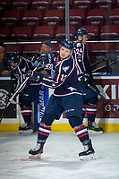 KELOWNA, CANADA - JANUARY 3: Jordan Topping #12 of the Tri-City Americans warms up against the Kelowna Rockets on January 3, 2017 at Prospera Place in Kelowna, British Columbia, Canada.  (Photo by Marissa Baecker/Shoot the Breeze)  *** Local Caption ***