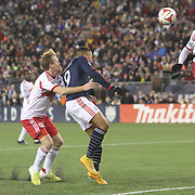 Charlie Davies, New England Revolution, scores the second of his two goal during the New England Revolution Vs New York Red Bulls, MLS Eastern Conference Final, second leg. Gillette Stadium, Foxborough, Massachusetts, USA. 29th November 2014. Photo Tim Clayton