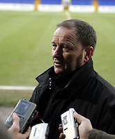 Photo: Paul Thomas. Chester City v Yeovil Town. Deva Stadium, Chester. Coca Cola League Two. 19/02/2005. Yeovil manager Gart Johnson talks to the madia after the game.
