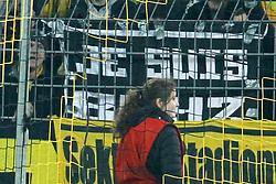 "14.03.2015, Signal Iduna Park, Dortmund, GER, 1. FBL, Borussia Dortmund vs 1. FC Köln, 25. Runde, im Bild BVB Fans mit Banner ""Je suis Boyz"" // during the German Bundesliga 25th round match between Borussia Dortmund and 1. FC Cologne at the Signal Iduna Park in Dortmund, Germany on 2015/03/14. EXPA Pictures © 2015, PhotoCredit: EXPA/ Eibner-Pressefoto/ Schueler<br /> <br /> *****ATTENTION - OUT of GER*****"