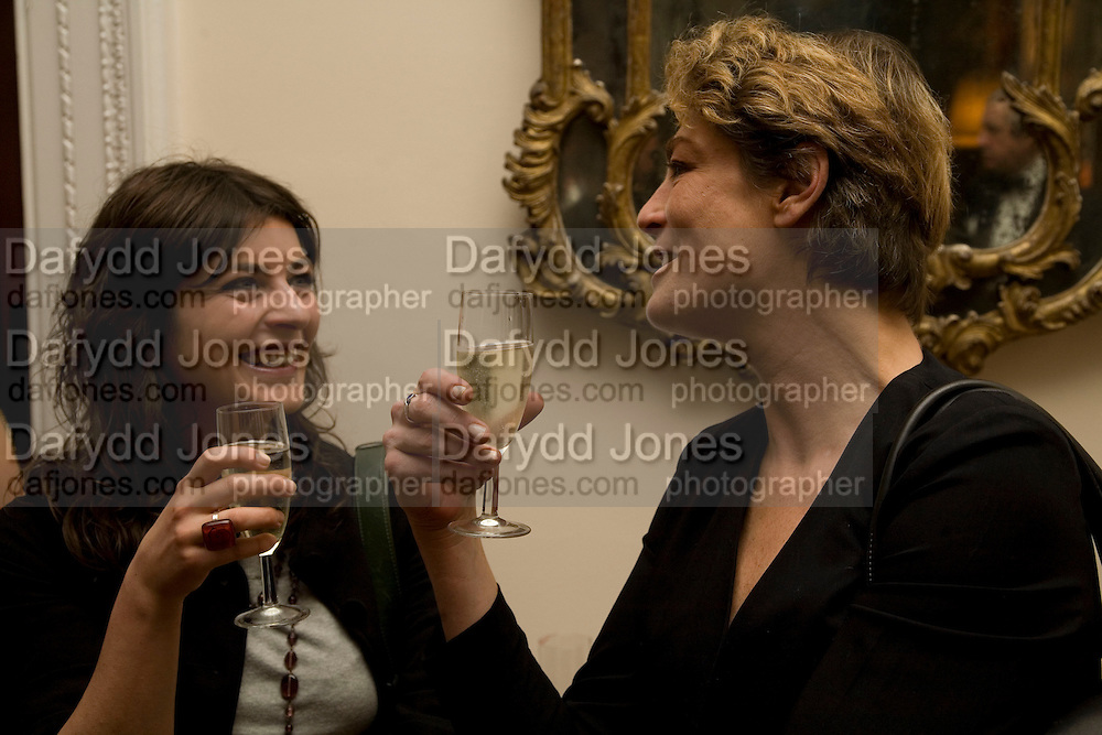 Dinner at the Italian Embassy in which the winner of the MaxMara Art Prize ( in collaboration with the Whitechapel art gallery )for Women is announced. Grosvenor Sq. London. 29 January 2008.  -DO NOT ARCHIVE-© Copyright Photograph by Dafydd Jones. 248 Clapham Rd. London SW9 0PZ. Tel 0207 820 0771. www.dafjones.com.