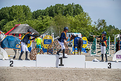 Frederick Charlotte, BEL, Ameeuw Louise, BEL, Clarys Amelie, BEL<br /> Belgisch Kampioenschap - Azelhof 2019<br /> © Hippo Foto - Dirk Caremans