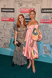 Left to right, Joséphine de La Baume and Adwoa Aboah at the Fabulous Fund Fair in aid of Natalia Vodianova's Naked Heart Foundation in association with Luisaviaroma held at The Round House, Camden, London England. 18 February 2019.