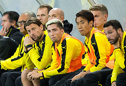 Roman Weidenfeller of Borussia Dortmund and Kevin Kampl of Borussia Dortmund during football match between WAC Wolfsberg (AUT) and  Borussia Dortmund (GER) in First leg of Third qualifying round of UEFA Europa League 2015/16, on July 30, 2015 in Wörthersee Stadion, Klagenfurt, Austria. Photo by Vid Ponikvar / Sportida