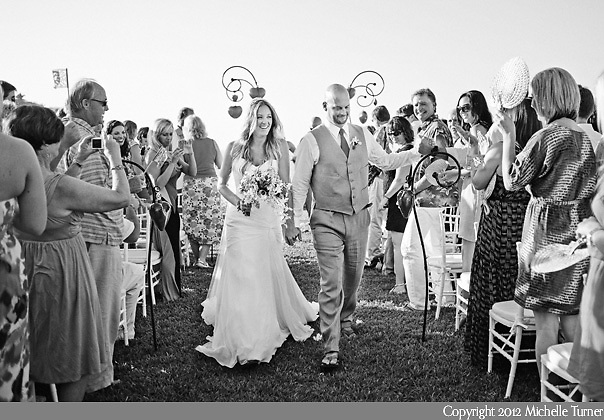 Ceremony Recessional: Courtney and Storm's Sayulita Wedding at Don Pedro's Palapa.   Image by Sayulita wedding photographer Michelle Turner.