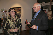Inna   Rogatchi and Sir John Hanson, The Real Dream, private view for an exhibition of work by Michael Rogatchi. Cork St. London.  5 December 2006. ONE TIME USE ONLY - DO NOT ARCHIVE  © Copyright Photograph by Dafydd Jones 248 CLAPHAM PARK RD. LONDON SW90PZ.  Tel 020 7733 0108 www.dafjones.com
