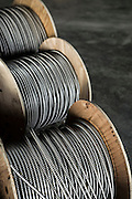 Spools of Electric Wire on a constriction site