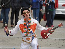 An Elvis Presley impersonator was part of the Westport 250 parade.<br />Pic Conor McKeown