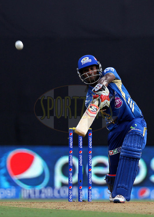 CM Gautam of the Mumbai Indians during match 22 of the Pepsi Indian Premier League Season 2014 between the Mumbai Indians and the Kings XI Punjab held at the Wankhede Cricket Stadium, Mumbai, India on the 3rd May  2014<br /> <br /> Photo by Vipin Pawar / IPL / SPORTZPICS<br /> <br /> <br /> <br /> Image use subject to terms and conditions which can be found here:  http://sportzpics.photoshelter.com/gallery/Pepsi-IPL-Image-terms-and-conditions/G00004VW1IVJ.gB0/C0000TScjhBM6ikg