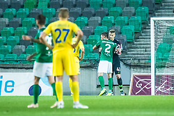 Vitalijs Maksimenko of NK Olimpija and Nejc Vidmar of NK Olimpija during football match between NK Olimpija and NK Domzale in 2nd Round of Prva liga Telekom Slovenije 2019/20, on July 21st, 2019, in Stadium Stozice, Ljubljana, Slovenia. Photo by Grega Valancic / Sportida