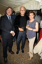 Left to right, ANDREW HANSEN, DAVID MONTGOMERY and DEBORAH BENNETT at the Apollo Magazine Summer Party held at 22 Old Queen Street, London, SW1 on 29th June 2010.