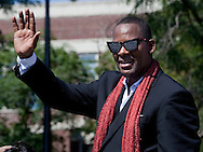 Singer R Kelly at the Bud Billikin parade held on Chicago's Southside.