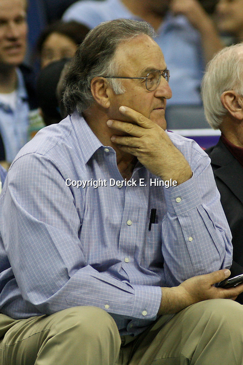January 16, 2012; New Orleans, LA, USA; Former New Orleans Hornets minority owner Gary Chouest watches courtside during the second half of a game Portland Trail Blazers at the New Orleans Arena. The Trail Blazers defeated the Hornets 84-77.  Mandatory Credit: Derick E. Hingle-US PRESSWIRE