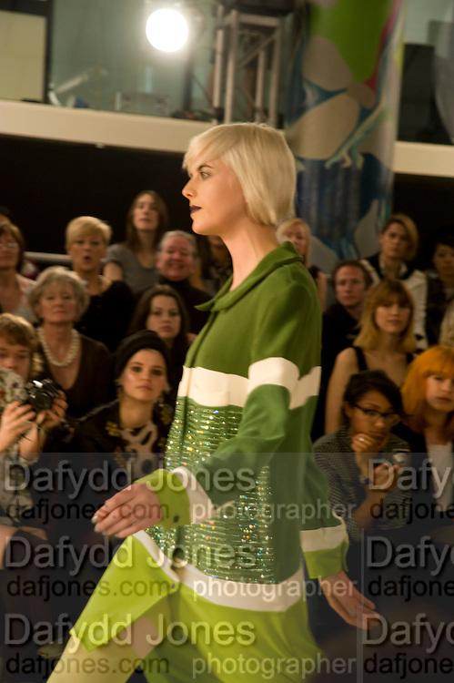 AGYNESS DEYN, ' Colour Me Happy' House of Holland fashion show , Quaglinos. Bury St. London. 24 February 2009.