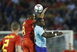 (L-R) Youri Tielemans of Belgium, Quincy Promes of Holland during the International friendly match between Belgium and The Netherlands at the King Baudouin Stadium on October 16, 2018  in Brussels, Belgium
