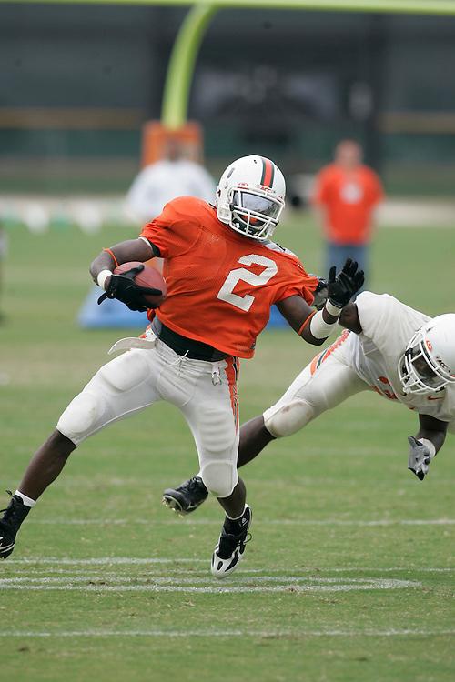 2008 University of Miami Football Spring Practice