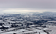 4/12/2010.The snow covered landscape over south Kilkenny from a hot air balloon over the weekend..Picture Dylan Vaughan