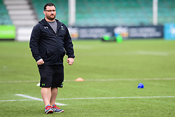 Roy Davies Head Coach of Worcester Valkyries during the pre match warm up - Mandatory by-line: Craig Thomas/JMP - 30/09/2017 - RUGBY - Sixways Stadium - Worcester, England - Worcester Valkyries v Saracens Women - Tyrrells Premier 15s