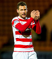 04/01/15 SCOTTISH PREMIERSHIP<br /> ST JOHNSTONE v HAMILTON<br /> MCDIARMID PARK - PERTH<br /> Hamilton's Tony Andreu applauds the fans at full-time