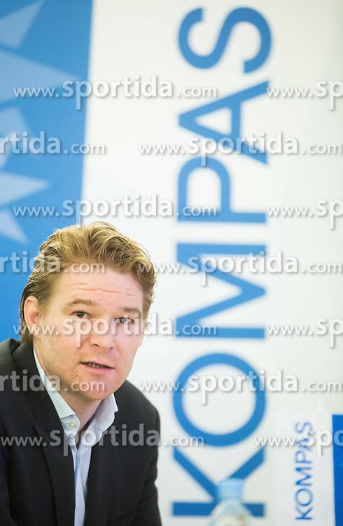 Peter Majerle of Kompas during press conference of Basketball Federation of Slovenia - KZS when signing a contract with Tourist agency Kompas for selling Eurobasket 2015 tickets, on March 2, 2015 in Ljubljana, Slovenia. Photo by Vid Ponikvar / Sportida